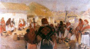 Święcone w Bronowicach by W. Tetmajer 1897